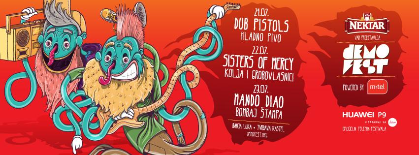 Mando Diao, Sisters of Mercy i Dub Pistols stižu na deveti Demofest