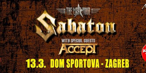 "Sabaton + Accept ""The Last Tour"" / 13.03.2017 - Dom Sportova, Zagreb"