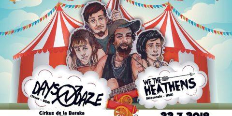 Folk punk cirkus: američki Days N Daze i We The Heathens dolaze u Kutinu