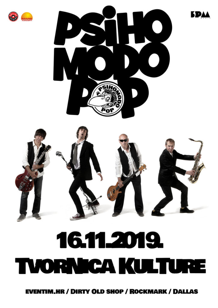Psihomodo Pop - Tvornica kulture 16.11.2019.