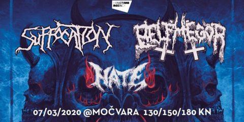 Suffocation, Belphegor i Hate u Zagrebu