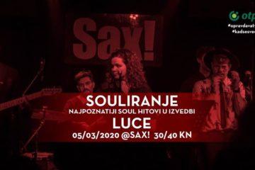 """LUCE otvara novi program """"SOULiranje"""" u klubu Sax"""