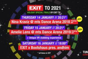 Svjetske premijere nastupa techno kraljica Nine Kraviz i Amelie Lens 14. i 15. siječnja na EXIT TV